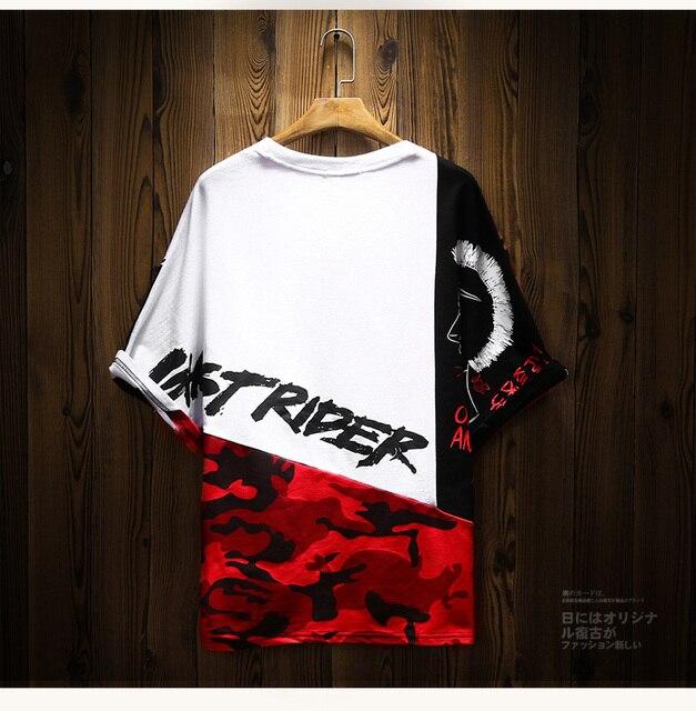 Camiseta de algodón con estampado de Hip Hop para hombre, camisa de manga corta a la moda, estilo rapero, Anime callejero japonés 3