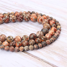 Wholesale Leopard Skin Natural Stone Beads Round Beads Loose Beads For Making Diy Bracelet Necklace 4/6/8/10/12MM