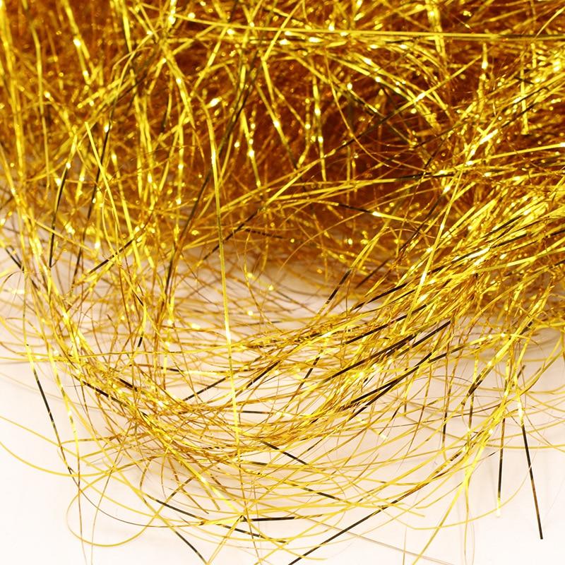 10g50g со сверкающими золотистыми Фольга DIY бумажная рафия измельченные конфетти гофрированная бумага наполнитель подарочной коробки для упа...