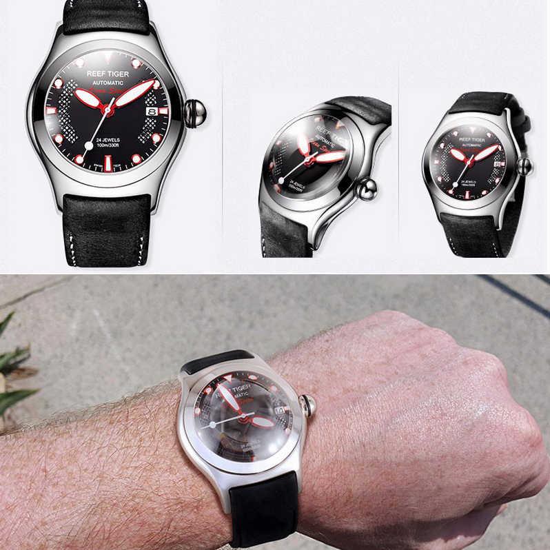 腕時計自動男性用、メンズファッション腕時計リーフ虎高級男自己風機械式腕時計防水スポーツ時計