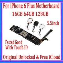 Haute qualité, débloqué pour iphone 6 plus carte mère avec/sans ID tactile + iCloud gratuit, Original pour iphone 6 plus carte mère