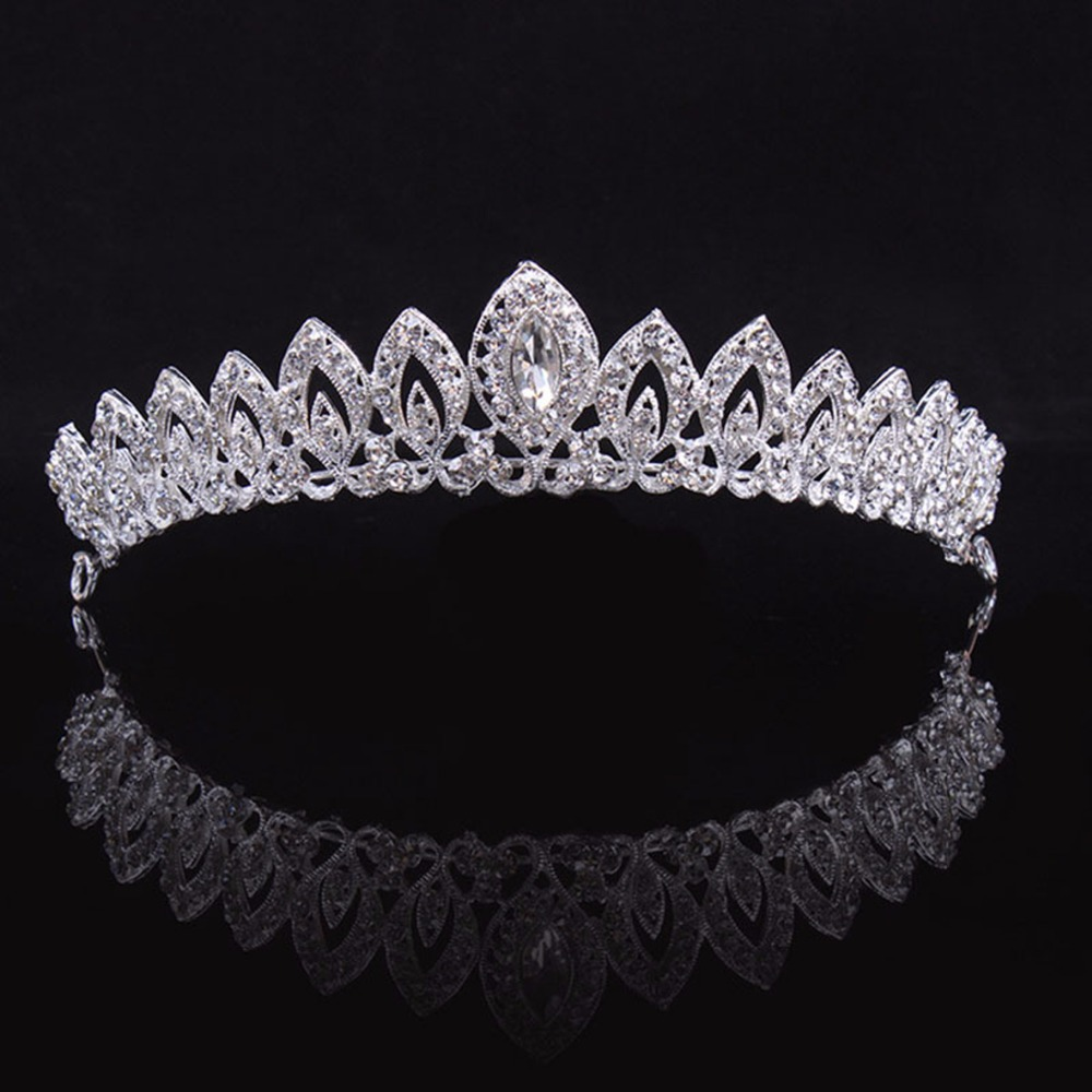 Vintage Baroque Imitated Emerald Crystal Tiaras And Crowns Hair Jewelry Headpiece Wedding Bridal Hair Accessories In Stock