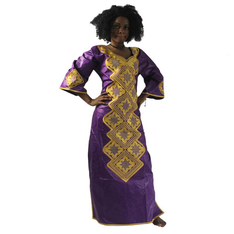 MD Traditional African Dresses South Africa Ladies Clothes Long Dress And Headwrap African Sets Women's African Bazin Dresses