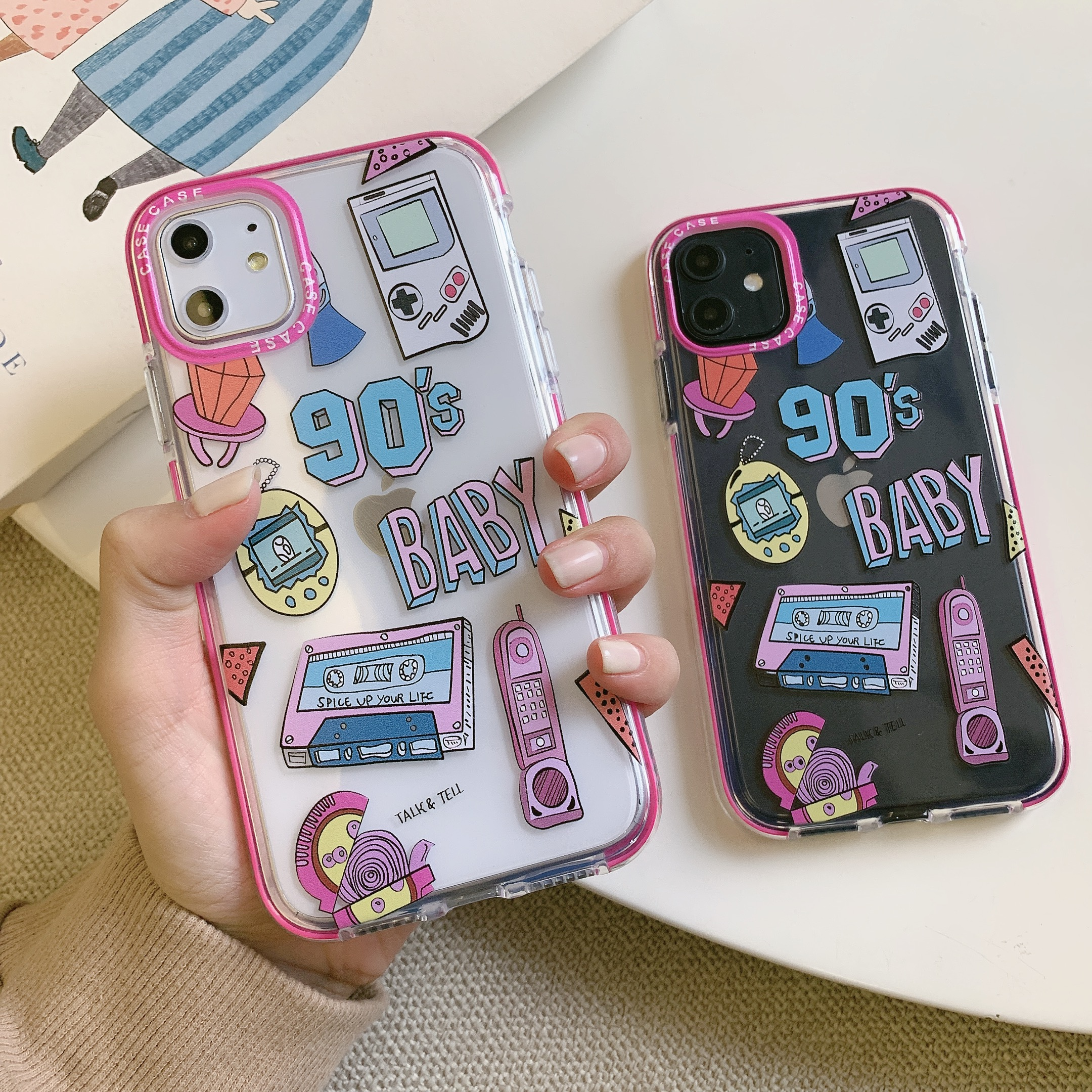 90S Harajuku Label Case For Iphone 11 Pro Max 7 8 Plus XS XR X 12 Pro Max Clear Cute Girls Quotes Silicone SE 2020 Cover Cases