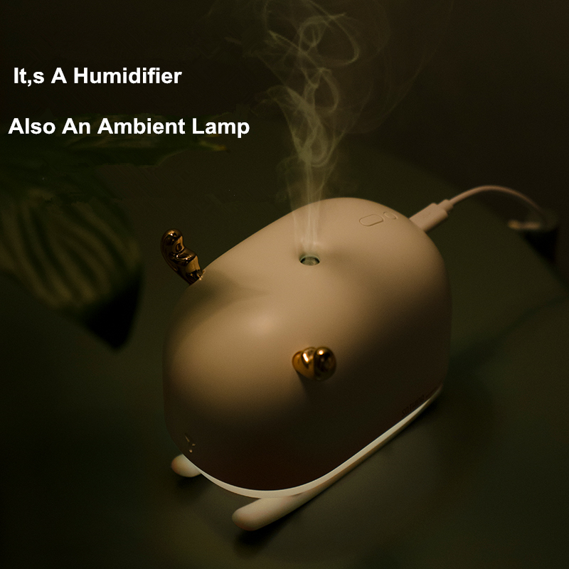 Image 4 - 260ML Sleigh Deer Ultrasonic Air Humidifier Aroma Essential Oil Diffuser for Home Car USB Fogger Mist Maker with LED Night LampHumidifiers   -
