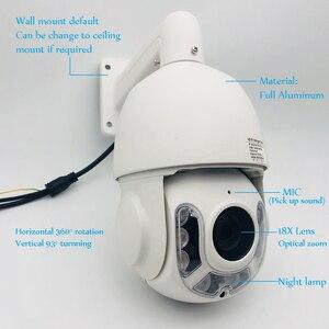 Image 2 - Outdoor Rainproof Aluminum 18x Optical Zoom Auto Tracking AI Speed Dome PTZ IP Camera 5MP Humanoid Audio Talk Automatic Cruise