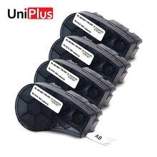 UniPlus 4PK M21-750-595-WT White Label Maker 0.75inch for Brady bmp21-plus idpal labpal Printer Cassette Vinyl Tapes