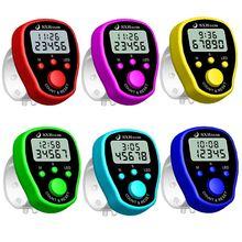 Счетчик пальцев часы ЖК-электронные цифровые счетчики времени и подсветки