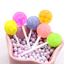 Brooch Cabochon Diy-Accessories Kawaii Flatback Decorative-Embellishments Craft Lollipop
