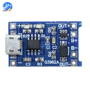 Image 4 - 10pcs BMS 18650 리튬 이온 리튬 배터리 충전기 보호 보드 5V1A 마이크로 USB 마이크 증폭기 배터리 밸런서