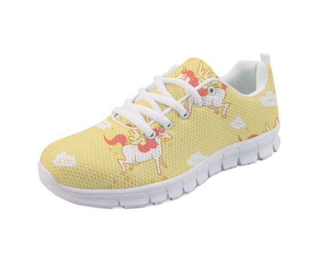 YEELOCA 2020 Unicorn M002 Printed Flat Shoes Ladies Fashion Style Sneaker Shoes For Girls Cute Breathable Footwear KZ0659