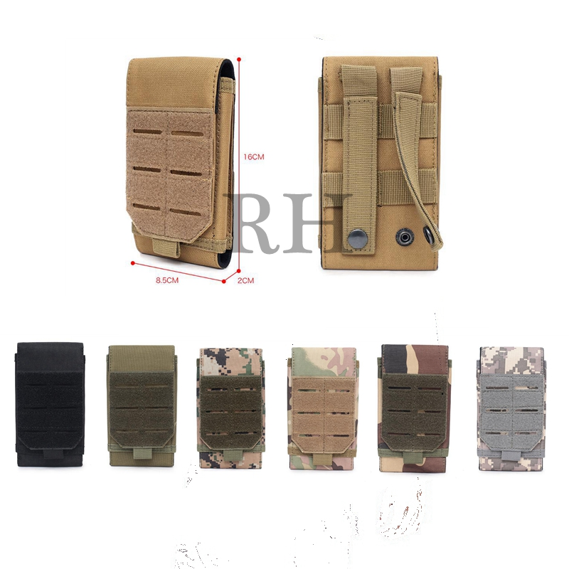 2020 New Tactical Laser Molle Phone Pouch 5 Inch Cellphone Pouches Waist Belt Military Mobile Phone Bag Universal Accessory Bags