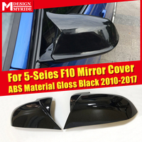 For BMW F10 Mirror Cover Side Mirror Cap 5 Series M5 Look Sedan ABS Gloss Black Rearview Mirror Case 1:1 Replacement 2010 2017