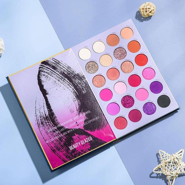Beauty Glazed-paleta de sombras de ojos, 72 colores, tres capas, estilo libro, maquillaje cosmético, sombra de ojos perlada mate 5