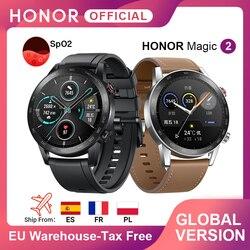 متوفر الإصدار العالمي ساعة الشرف السحرية 2 ساعة ذكية بلوتوث 5.1 ساعة ذكية 14 يوما مقاوم للماء الرياضة MagicWatch 2