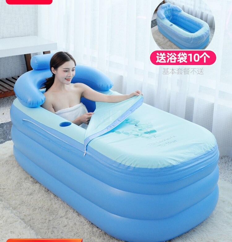 1.6M Adult Portable Inflatable Bathtub Home Thickening Folding Barrel Children Can Sit Lie Plastic PVC Inflatable Bath Tub Spa