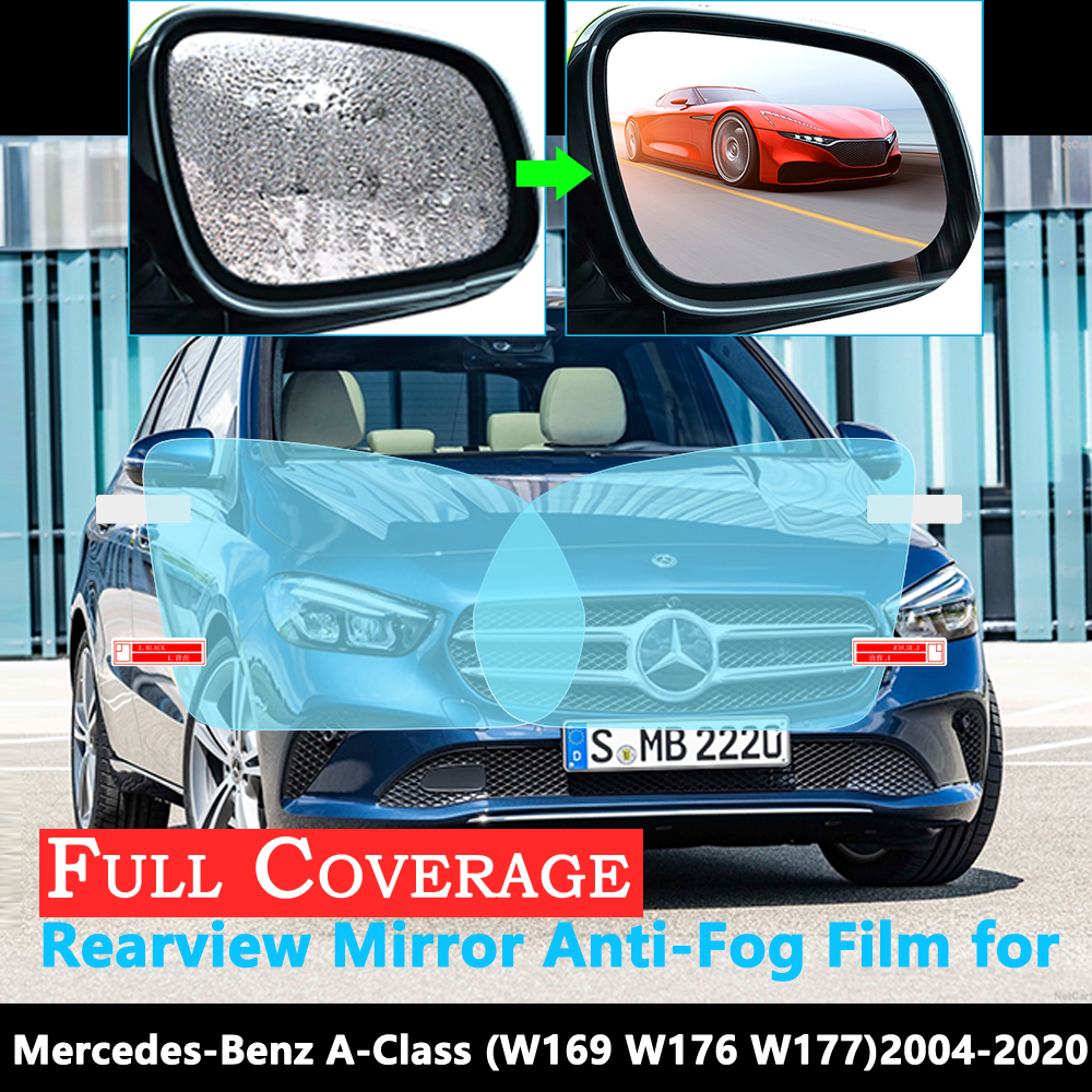 Full Cover Anti-Fog Film for <font><b>Mercedes</b></font> Benz B-Class W245 <font><b>W246</b></font> W247 B-Klasse B160 B180 <font><b>B200</b></font> 2009~2020 Rearview Mirror Rainproof image