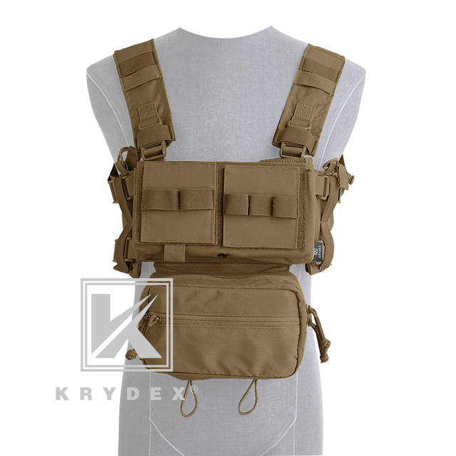 KRYDEX MK3 Modular Tactical Chest Rig Chassis Spiritus Airsoft Hunting Military Tactical Carrier Vest w/ 5.56 223 Magazine Pouch 3