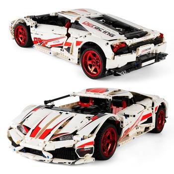1696pcs Super Racing Sports Car City Speed Racer Vehicle LP610 Supercar Building Blocks Bricks  1