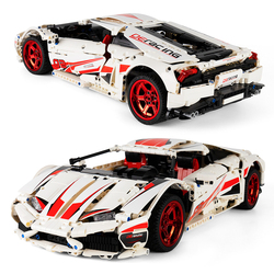 1696pcs Super Racing Sports Car City Speed Racer Vehicle LP610 Supercar Building Blocks Bricks DIY Toys Gifts For Children Kids