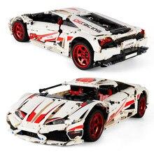 1696 adet süper yarış spor araba City Speed Racer araç LP610 Supercar yüksek teknoloji yapı taşları tuğla oyuncaklar hediyeler çocuklar için
