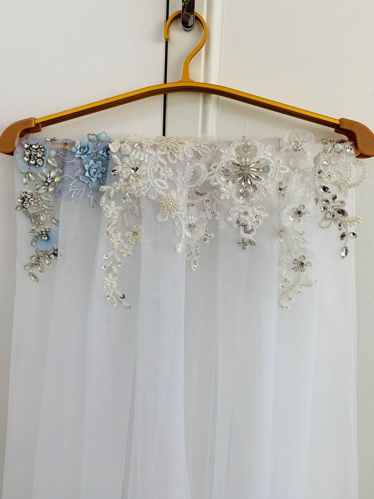 TOPQUEEN F01 Wedding Handmade Flowers Bridal Veils Wedding Headband Fashion Hairwear Special Veil For Wedding Hair Accessories