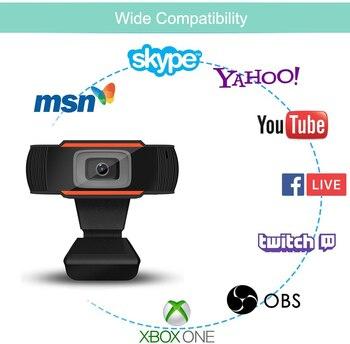Webcam 1080P 720P 480P Full HD Web Camera Built-in Microphone USB Plug Web Cam For PC Computer Mac Laptop Desktop YouTube Skype 5