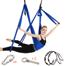 Air Yoga Hammock Set As Camping Hammock Antigravity Yoga Swing Hammock 6 Handles Strap Inversion Exercises Home Gym Hanging Belt