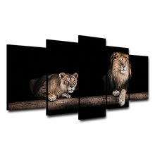 Hot Selling 5 Pieces Home Decor Print oil painting Wall Art Decorations Wall Canvas, Animal Lions hot selling home decor print oil painting on canvas wall art decorations wall canvas mad max doof warrior