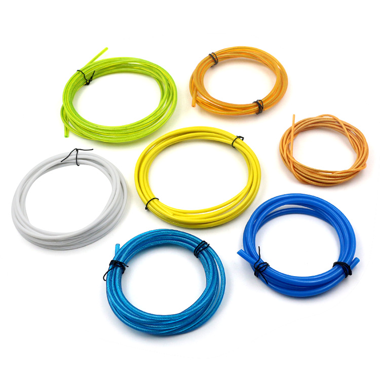 Plastic Racing Pu Jump Rope Customizable Logo Style Supplies Fitness Supplies Stainless Steel Plastic Coated Wire Rope