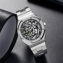 Cadisen Mannen Horloges Mechanische Automatische Japan NH70A Holle Design Horloge Mannen 100M Waterdicht Merk Luxe Casual Sport Horloge