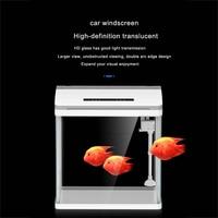 Mini Plastic Fish Tank Desktop Marine Aquaponic Aquarium Betta Fishes Bowl With Water Fliter LED Light Selfcirculating Cylinder