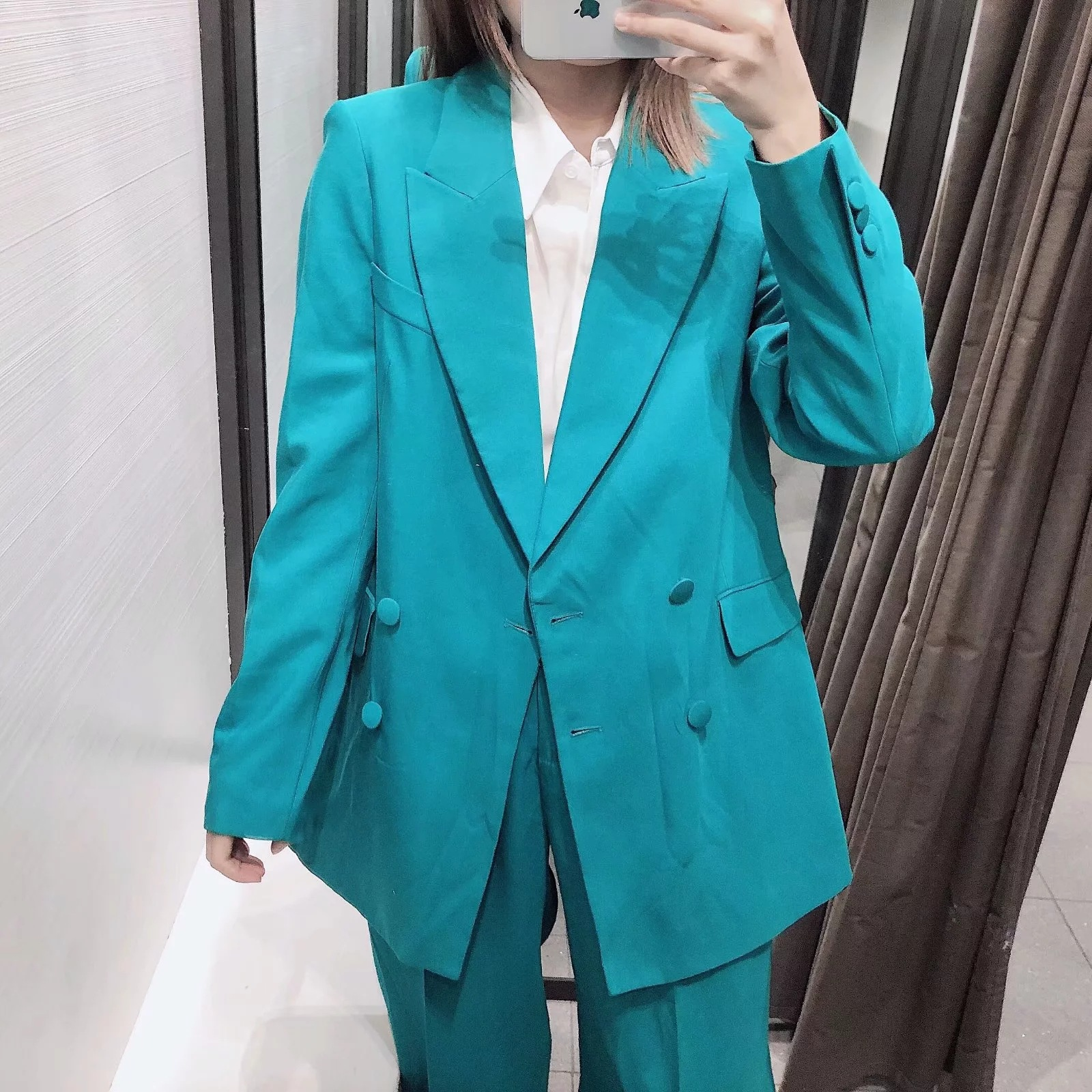 Autumn new women's suits pants suit Casual loose double-breasted suit jacket female Fashion pleated wide-leg pants Two-piece set