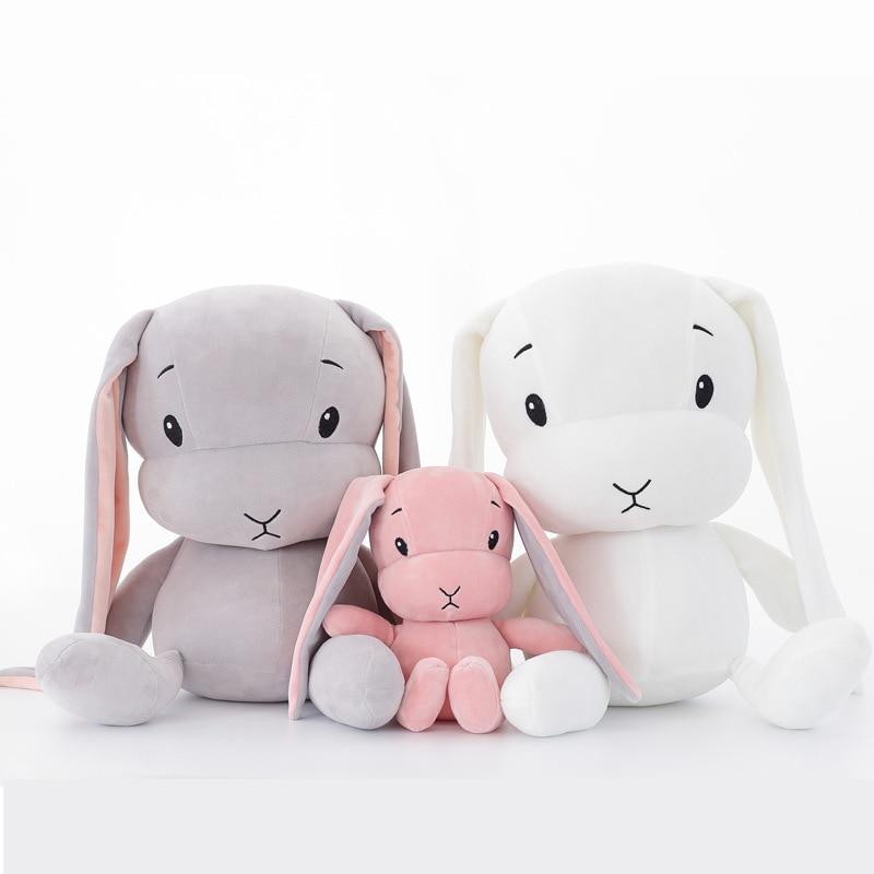 Peluches de conejo bonitos de 50CM y 30CM para niños, conejito de peluche, muñeca de juguete para bebé, juguete para dormir, regalos para niños WJ491