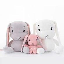 Lapin en peluche pour enfants, jouets en forme d'animaux mignons, poupée bébé, jouet d'accompagnement pour le sommeil, cadeaux pour enfants, 50CM, 30CM, WJ491