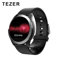 TEZER Z03 ECG PPG Smart Watch With Blood Pressure Heart Rate Monitor Passometer sport tracker relogio For IOS Android phone