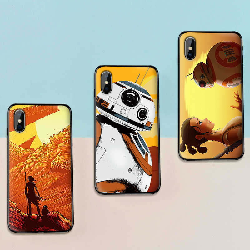 PARA Xiao mi mi 9T A3 PRO 8 A2 LITE 8 3 9 SE mi mi X 2 6X S f1 9 CC9E CC9 Luxo Preto Caso de telefone Star Wars BB8