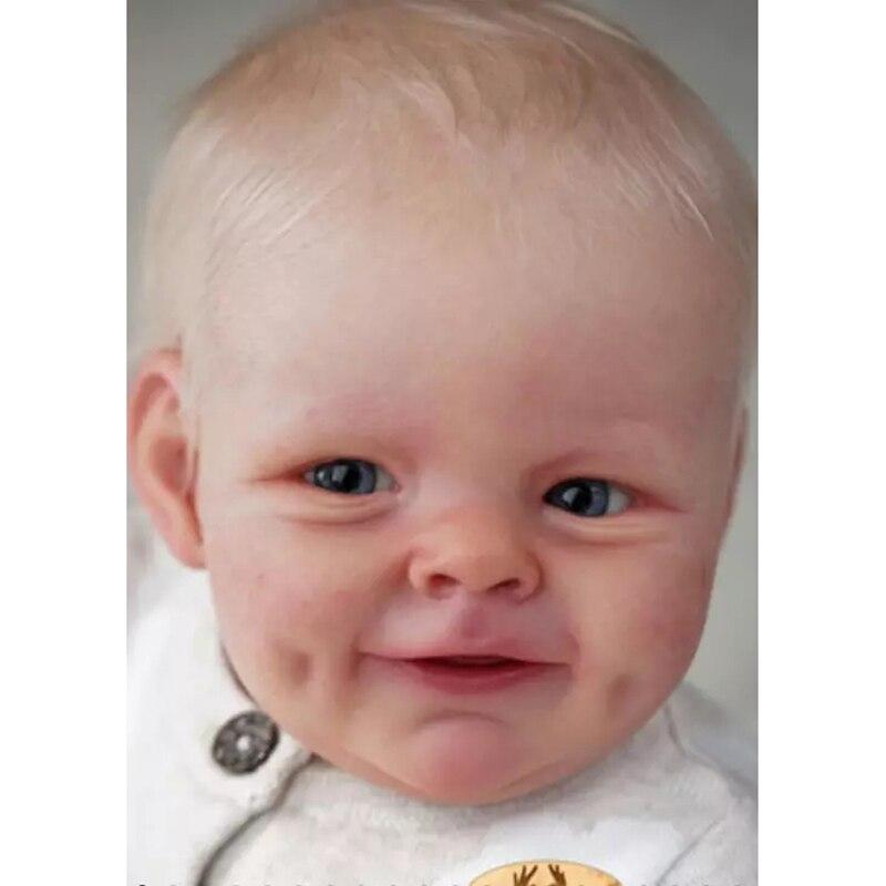 Reborn Kit 21 Zoll Realistische Lebensechte Baby Puppe Kit Shaya Süße Gesicht Unlackiert Unfinished Puppe Teile DIY Blank Puppe Kit boneca
