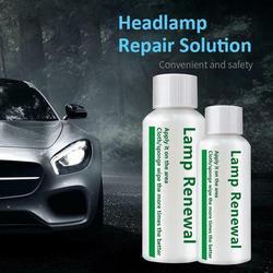 50ml Upgrad Car Headlight Repair Coating Solution Repair Polishing Kit Renovation Scratch Agent For Car Coat Polish Headlig I7Q9