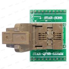 Adaptateur de programmeur QFN8 à DIP8 WSON8 DFN8 MLF8 à DIP8 socket pour pas de 25xxx 5x6mm = 1.27mm