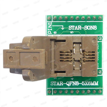QFN8 Om DIP8 Programmeur Adapter WSON8 DFN8 MLF8 Om DIP8 Socket Voor 25xxx 5X6 Mm Pitch = 1.27mm