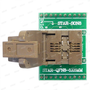 Image 1 - QFN8 to DIP8 Programmer Adapter WSON8 DFN8 MLF8 to DIP8 socket for 25xxx 5x6mm Pitch=1.27mm