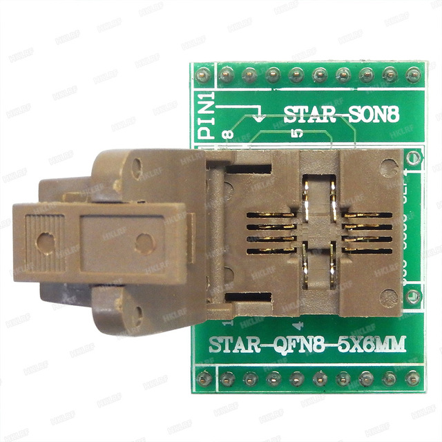QFN8 to DIP8 Programmer Adapter WSON8 DFN8 MLF8 to DIP8 socket for 25xxx 5x6mm Pitch=1.27mm