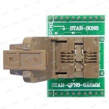 QFN8 to DIP8 programcı adaptörü WSON8 DFN8 MLF8 to DIP8 soket 25xxx 5x6mm Pitch = 1.27mm