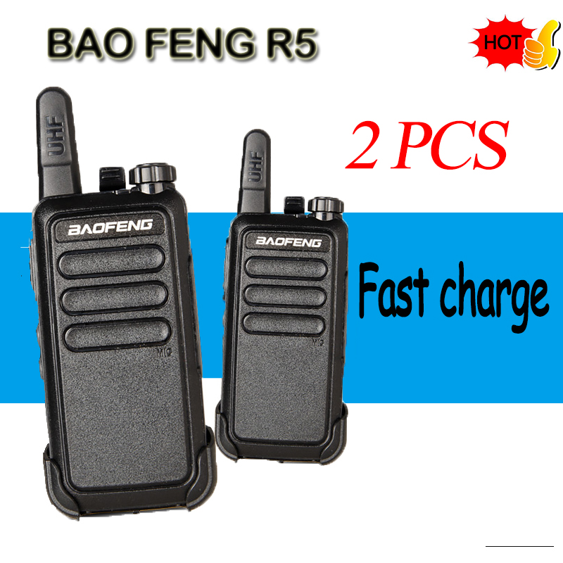 (2 PCS) BAOFENG The Cheapest   Walkie Talkie Portable Profession Handheld  Ham Radio Communicator HF Transceiver Fast Charge