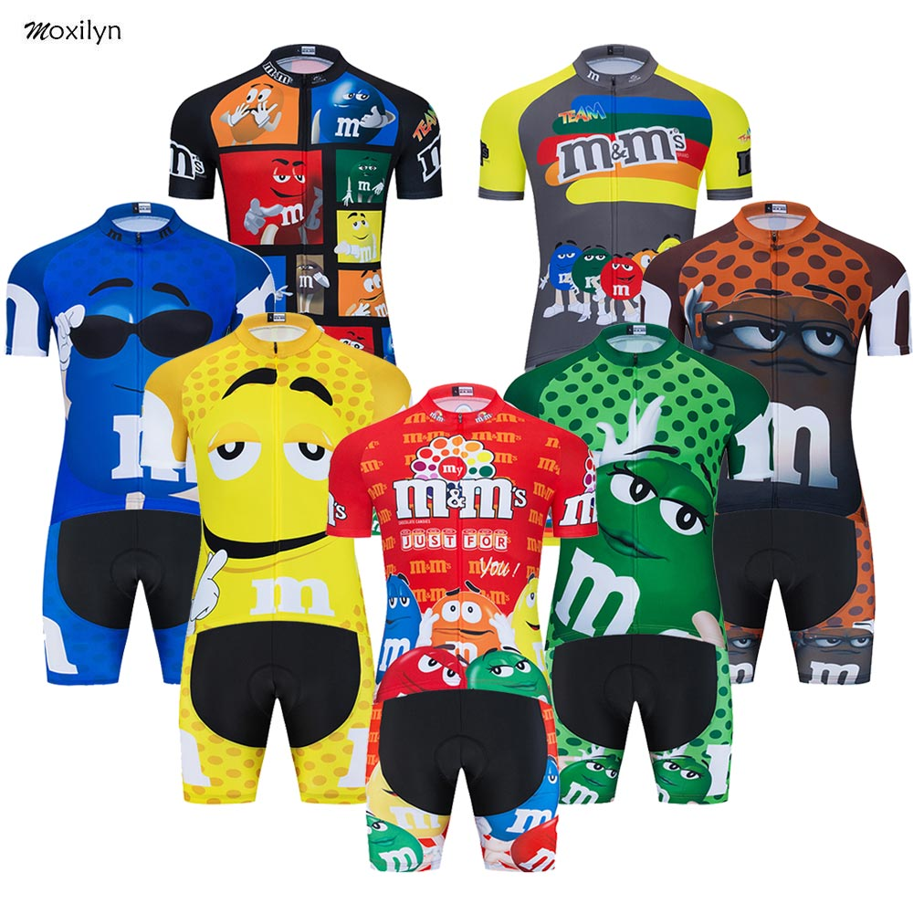 Funny Novelty Short Sleeve Cycling Clothing Sets Breathable MTB Bike Clothing Mens Bicycle Clothes Ropa Ciclismo Cycling Jerseys