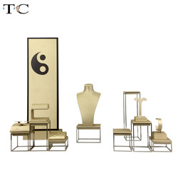 Tai Chi Ontwerp Sieraden Display Rack Stand Rvs Sieraden Earring Display Collier Showcase Sieraden Display Rack Houder
