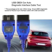 USB VAG-COM 409.1 Vag Com 409Com vag 409 kkl OBD2 Diagnostic Cable Scanner Auto Aux For V W Audi Seat Volkswagen Skoda