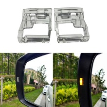 2PCS For Subaru WRX Impreza Outback Forester XV Clear Car Side Mirrors Assistant Turn Signal Light Lens Indicators