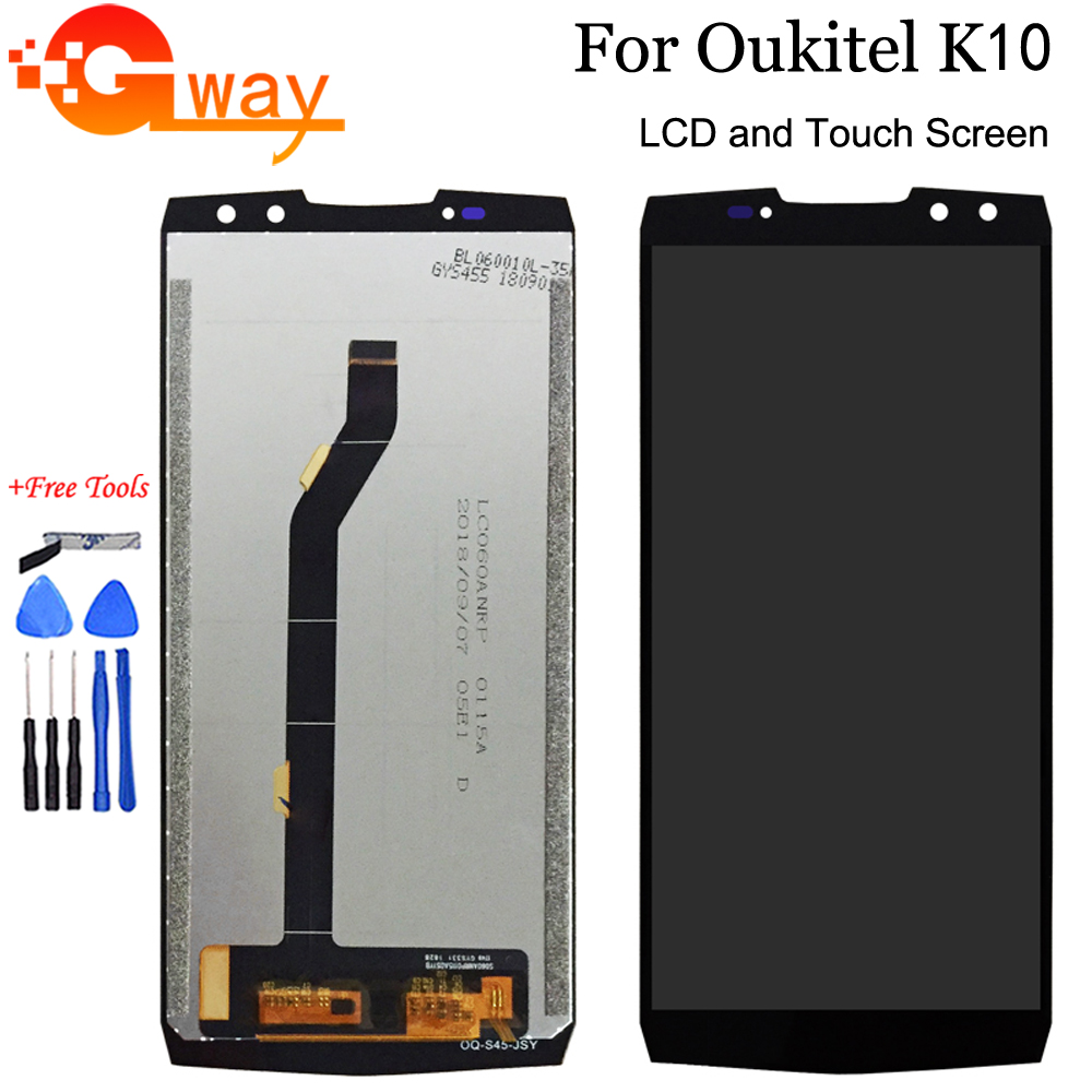 Original For Oukitel K10 LCD Display And Touch Screen Digitizer Assembly Phone Accessories For Oukitel K10 With Tools